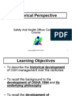 Historical Perspective -OSH