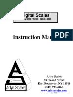 Manual de Bascula Arlyn 620F Pionner
