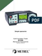 002 Telurómetro Metrel Manual en Español