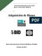 Documentos Estándar de Licitación para Adquisición de Bienes