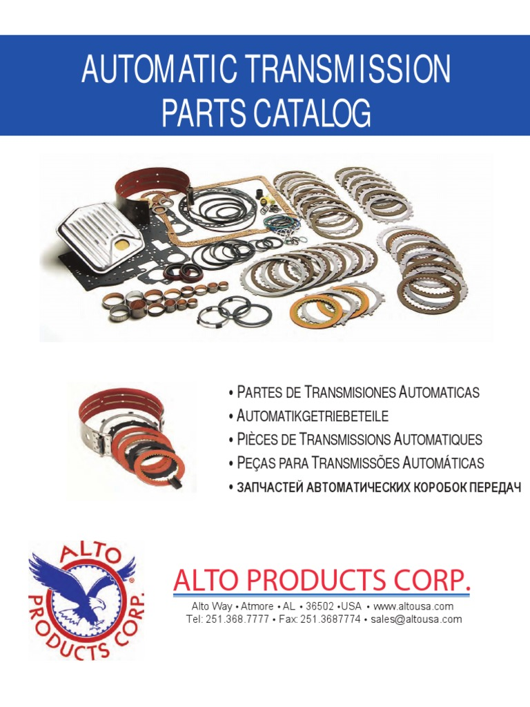 Ford 4R100 Transmission Alto Overhaul Rebuild Less Steel Kit 1998-On