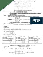 Algoritm de Descompunere in Factori