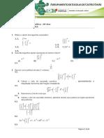 Ficha de Revisão de Matemática