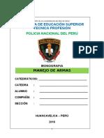 Monografia Manejo de Armas PNP