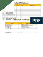 Daftar IT Blok 5 Histologi