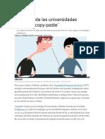 La Guerra de Las Universidades Contra El 'Copy-paste'. Carlos Otiniano Pulido
