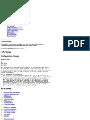 HAProxy Version 1 7-Dev1 - Configuration Manual | Hypertext Transfer