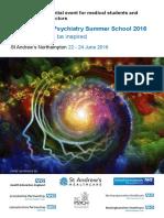 east midlands psychiatry summer school flyer and booking