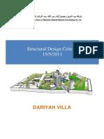 Structure Design Criteria-final