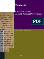(New Testament Tools, Studies and Documents) Lincoln H. Blumell-Lettered Christians_ Christians, Letters, And Late Antique-Brill Academic Pub (2012)