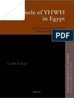 (Oudtestamentische Studiën 60) Csaba Balogh-The Stele of YHWH in Egypt_ the Prophecies of Isaiah 18–20 Concerning Egypt and Kush-Brill (2011)