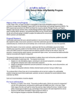 Summary of the 2005 Water Affordability Plan