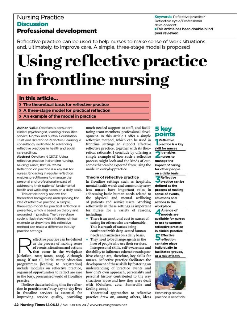120612 PrDisc Reflect | Reflective Practice | Nursing