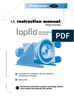 Tapflo PT Hose Pumps Operation Manual