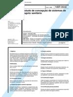 NBR 09648 - 1986 - Estudos de Concepção de Sistemas de Esgot