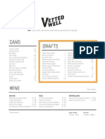 Vetted Well Beer Wine Menu DALLAS