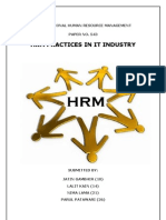 Hrm Practices in IT Industry