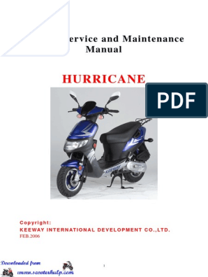 Keeway Hurricane 50cc Service Manual | Carburetor | Ignition System