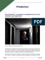 Enzo Del Bufalo La Economia No Capitalista Aun No Se Ha Inventado Por Hugo Prieto