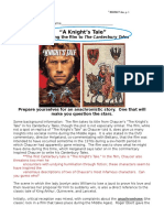 A Knight's Tale Film Study Guide 12 CP