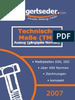 DIN ISO Technische Masse