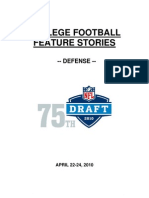 NFL Draft Features Defense