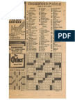 J. A. Felker's First New York Times Puzzle, With Manuscript of Original Clues
