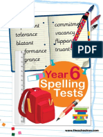 Year 6 Spelling Tests