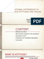 Generational Differences in Workplace Attitudes and Values