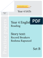 Year 4 English Optional Sats Set b
