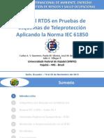 Presentación_Uso Del RTDS en Pruebas de Esquemas de Teleprotección Aplicando La Norma IEC 61850