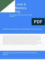 unit 6 mastery proj