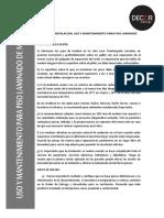 Manual de Instalacion Uso y Mantenimiento Para Piso Laminado de Madera