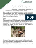 GVI Pez Maya Monthly achievement report April 2015