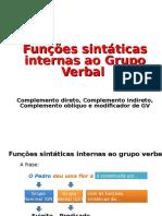 Funções Sintáticas Internas Do Grupo Verbal