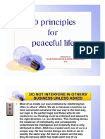 10 Principles for Peaceful Life