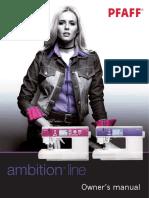 PFAFF Ambition 1.0 & 1.5 Manual