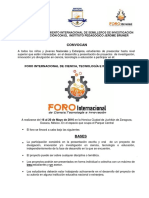 Convocatoria Foro Internacional