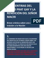 Las mentiras del señor Prat Gay
