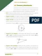 Glosario Teorema y Demostración Geometria