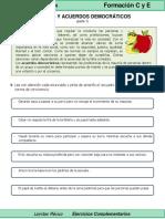 5to Grado - Formación C y E - Normas y Acuerdos Democráticos