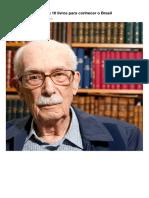 Antonio Candido Indica 10 Livros Para Conhecer o Brasil-1