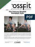 The Suitcase Deadlift