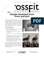 Double Kettlebell Push Press and Jerk