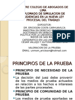 Diplomado Procesal Laboral Prueba