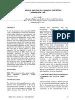 Time Synchronization Algorithm for Asymmetric Optical Fiber Communication Link