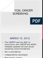 Cervical Cancer Screening Webinar