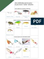Señuelos Artificiales Para La Pesca