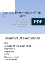 Clinical Examination of Hip Joint