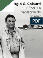 Sergio G. Colautti J. J. Saer La Vacilacion de Lo Real